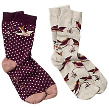 Buy Fat Face Floral Ditsy Ankle Socks, Pack of 2 Online at johnlewis.com
