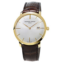 Buy Frédérique Constant FC-306V4S5 Men's Slim-Line Automatic Watch, Brown Online at johnlewis.com