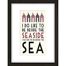 Buy East of India Beside the Seaside Framed Print, 33 x 43cm Online at johnlewis.com