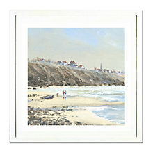 Buy Anthony Waller - Beach Stroll Framed Print, 45 x 45cm Online at johnlewis.com