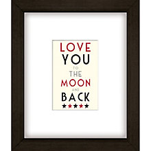 Buy East of India Moon And Back Framed Print, 27 x 23cm Online at johnlewis.com