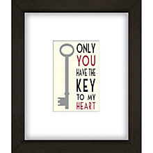 Buy East of India Key to My Heart Framed Print, 27 X 23cm Online at johnlewis.com