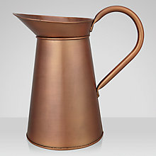 Buy John Lewis Brushed Copper Water Pitcher Online at johnlewis.com