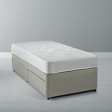 Buy John Lewis The Basics Open Mattress and Non-Sprung Divan Set, Single Online at johnlewis.com
