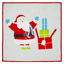 Buy John Lewis Christmas Magic Santa Face Cloth Online at johnlewis.com