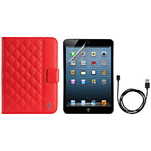 Buy Belkin Quilted Case for iPad mini, Red & Accessory Bundle Online at johnlewis.com