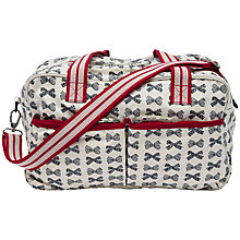 Buy Pink Lining Washable Changing Tote Bag, Grey Bows Online at johnlewis.com