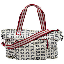 Buy Pink Lining Washable Shopper Changing Bag, Grey Bows Online at johnlewis.com