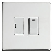 Buy Varilight 1 Gang Fused Spur and Switch, High Chrome Online at johnlewis.com