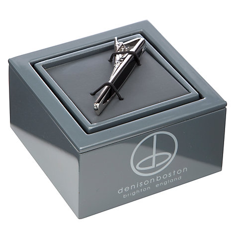 Buy Denison Boston Skimm Onyx Tie Slide Online at johnlewis.com