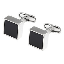 Buy Denison Boston Mindy Onyx Cufflinks Online at johnlewis.com