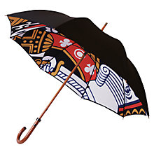 Buy London Undercover Premium King Of Clubs Umbrella, Black Online at johnlewis.com