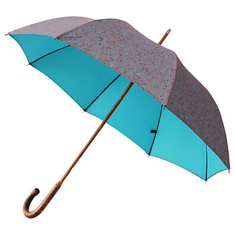 Buy London Undercover Premium Jubilee Line Umbrella, Turquoise/Multi Online at johnlewis.com