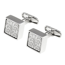 Buy Denison Boston Mindy Floral Cufflinks, Pink Online at johnlewis.com
