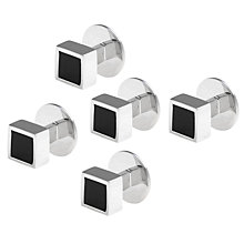 Buy Denison Boston Mindy Onyx Dress Studs Online at johnlewis.com