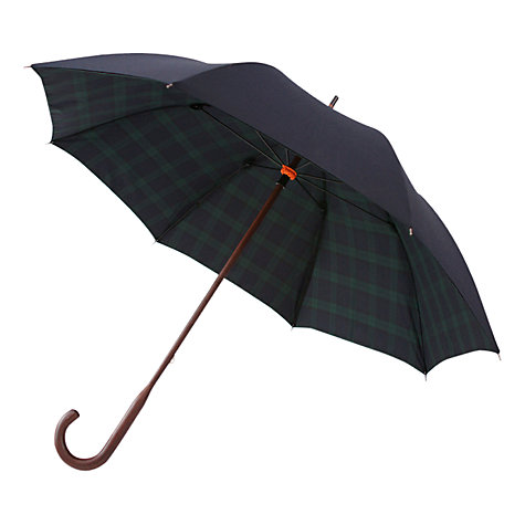 Buy London Undercover Classic Blackwatch Check Umbrella, Navy/Black Online at johnlewis.com