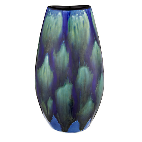 Buy Poole Pottery Alexis Manhattan Vase, H26cm, Blue Online at johnlewis.com