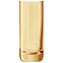 Buy LSA Polka Column Vase, Sheer Gold Online at johnlewis.com