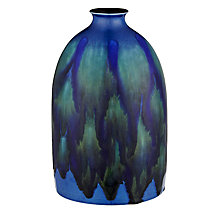 Buy Poole Pottery Alexis Oval Bottle Vase, Blue Online at johnlewis.com