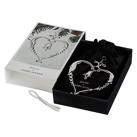 Buy Georg Jensen Heart Christmas Decoration, Silver Online at johnlewis.com