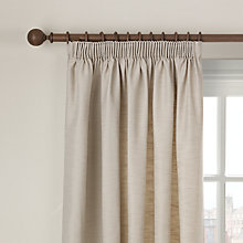 Buy John Lewis Semi Block Pencil Pleat Curtains, Natural Online at johnlewis.com