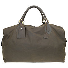 Buy Barbour Giant Explorer Waxed Holdall, Olive Online at johnlewis.com