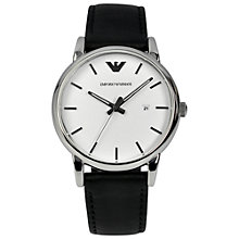 Buy Emporio Armani AR1694 Men's Luigi Stainless Steel Watch, Black / White Online at johnlewis.com