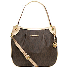 Buy MICHAEL Michael Kors Jet Set Large Shoulder Handbag, Brown Online at johnlewis.com