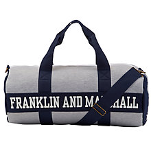 Buy Franklin & Marshall Duffle Bag, Grey Online at johnlewis.com