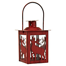 Buy John Lewis Tree / Reindeer Tealight Lantern Online at johnlewis.com