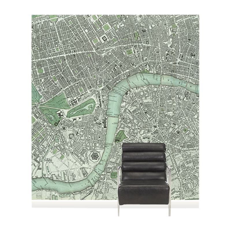Surface View Surface View Chart of London Wall Mural, 240 x 265cm