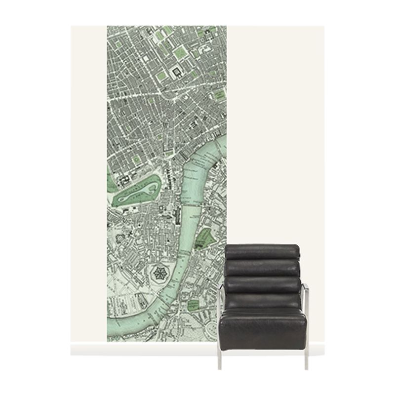 Surface View Surface View Chart of London Wall Mural, 100 x 265cm