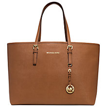 Buy MICHAEL Michael Kors Medium Jet Set Multifunction Saffiano Leather Tote Handbag Online at johnlewis.com
