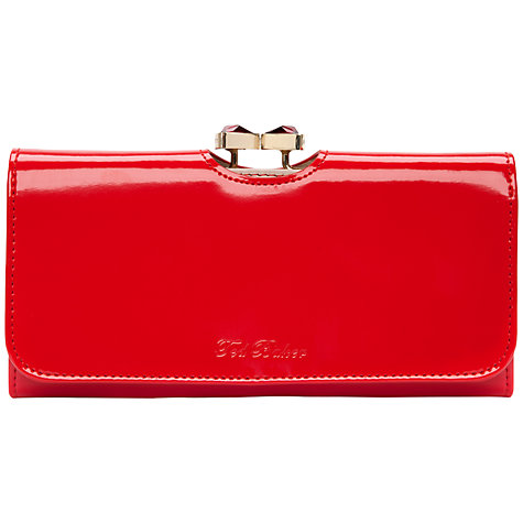 Buy Ted Baker Titiana Crystal Bow Bobble Patent Matinee Purse Online at johnlewis.com