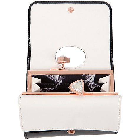 Buy Ted Baker Tyro Crystal Bow Bobble Patent Small Purse Online at johnlewis.com