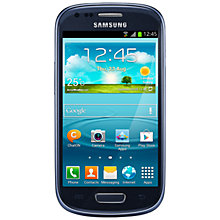 Buy Samsung Galaxy SIII Mini Smartphone, Sim Free, Blue Online at johnlewis.com