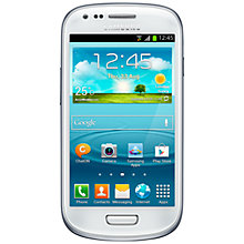 "Buy Samsung Galaxy SIII Mini Smartphone, Android, 4"", 3G, SIM Free, 8GB Online at johnlewis.com"