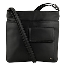 Buy Tula Originals Grace Leather Large Across Body Handbag, Black Online at johnlewis.com
