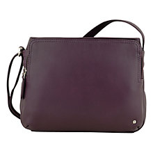 Buy Tula Originals Grace Leather Medium Across Body Handbag, Purple Online at johnlewis.com