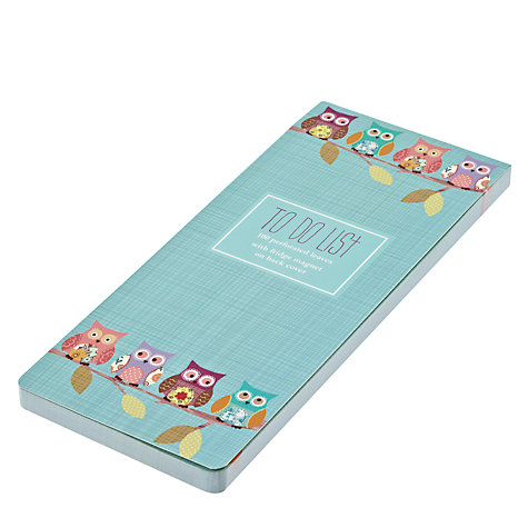 Buy Go Stationery Owl Magnetic To Do List Notepad Online at johnlewis.com