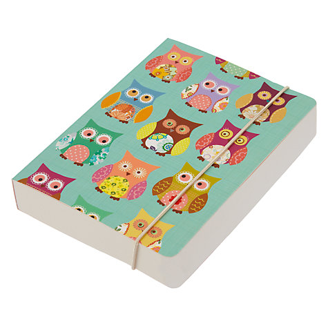 Buy Go Stationery Owl A6 Notebook, Multi Online at johnlewis.com