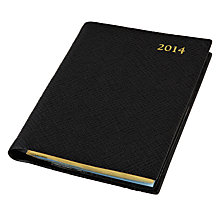 Buy Leathersmith of London Rutland 2014 Diary, Black Online at johnlewis.com