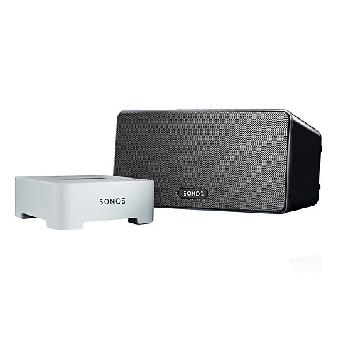 Buy Sonos PLAY:3 Wireless Music System, Black with FREE Sonos Bridge Online at johnlewis.com