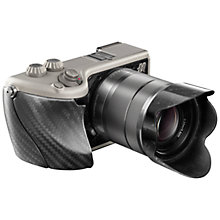 "Buy Hasselblad Lunar Compact System Camera with 18-55mm Lens, HD 1080p, 24.3MP, EVF, 3"" LCD Screen with 16GB + 8GB Memory Card Online at johnlewis.com"
