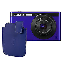 "Buy Panasonic Lumix DMC-XS1 Digital Camera, HD 720p, 16.1MP, 5x Optical Zoom, 2.7"" LCD Screen with Leather Case, Violet Online at johnlewis.com"