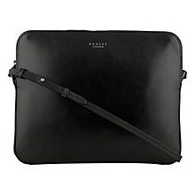 Buy Radley Malton Leather Medium Zipped Across Body Tablet Case, Black Online at johnlewis.com