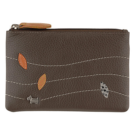 Buy Radley Leather Leaf Small Coin Purse, Grey Online at johnlewis.com
