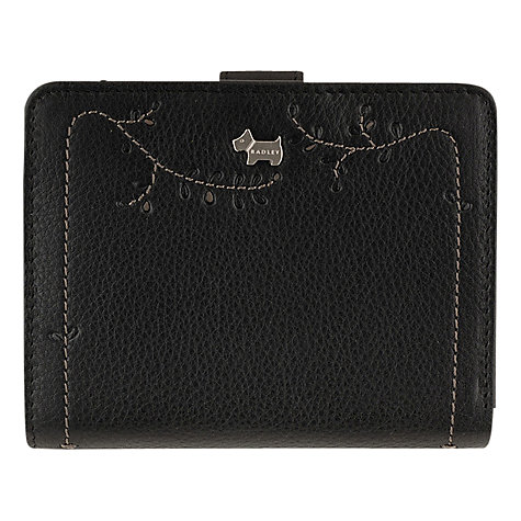 Buy Radley Little Laurels Medium Tab Wallet, Black Online at johnlewis.com