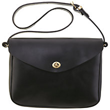 Buy Mimi Berry Frank Leather Medium Shoulder Bag, Black Online at johnlewis.com