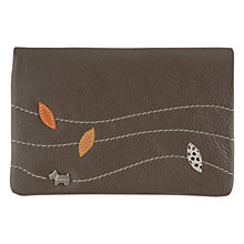 Buy Radley Leather Leaf Medium Zipped Wallet, Grey Online at johnlewis.com